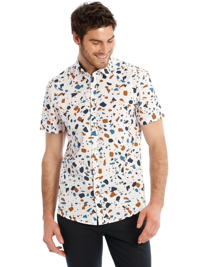Terrazzo Geo Print Short Sleeve Shirt image 1