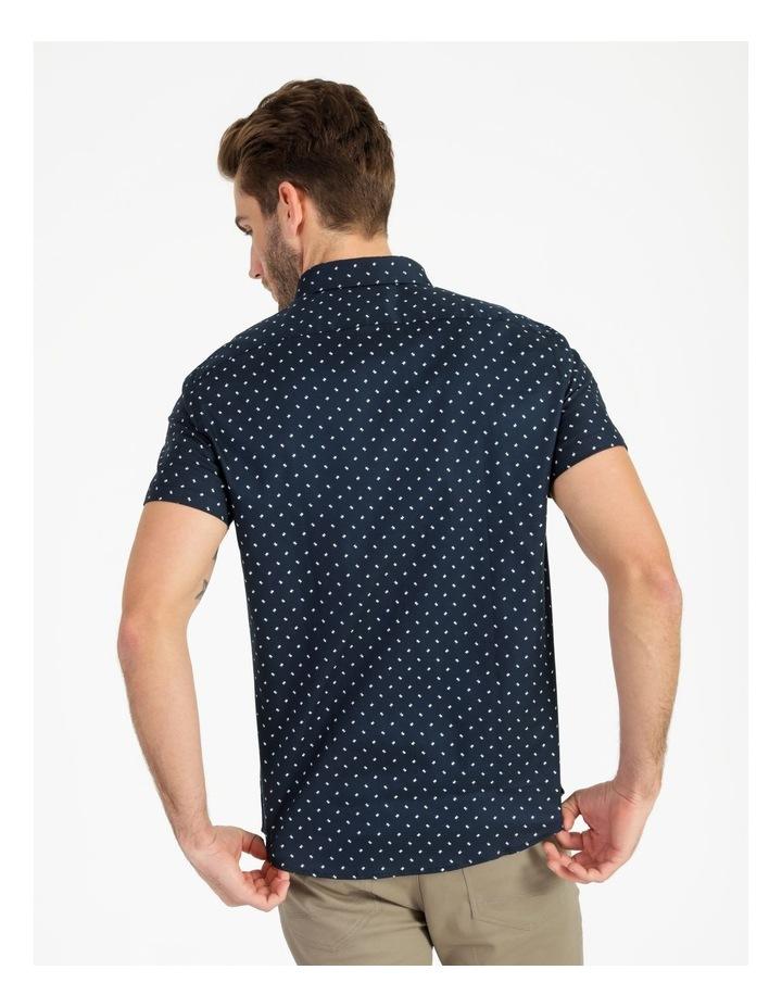 Winnie Geo Print Short Sleeve Relaxed Shirt Navy image 4