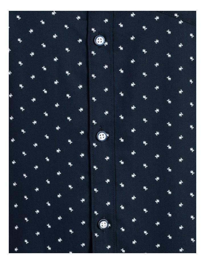 Winnie Geo Print Short Sleeve Relaxed Shirt Navy image 6