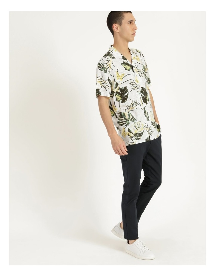 Monstera Floral Print Short Sleeve Viscose Shirt Green image 4