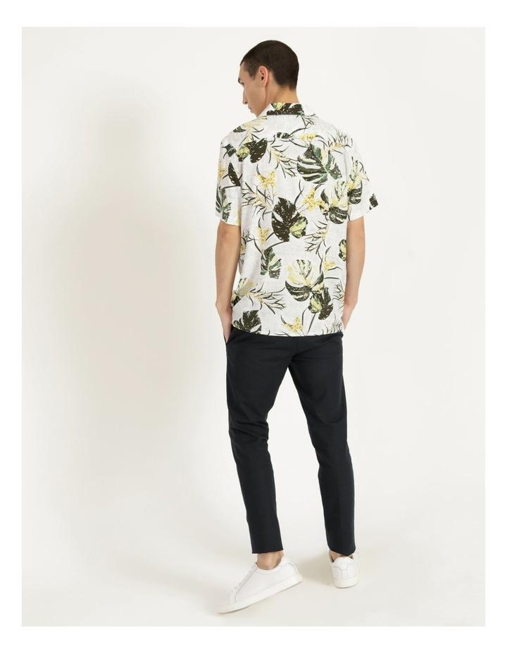 Monstera Floral Print Short Sleeve Viscose Shirt Green image 6
