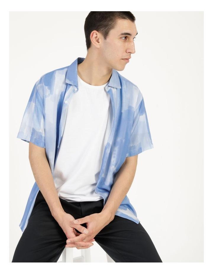 Ayr Abstract Print Short Sleeve Viscose Shirt image 1