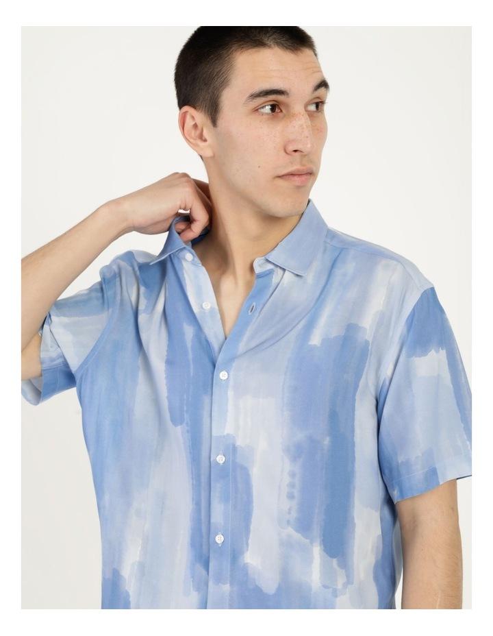 Ayr Abstract Print Short Sleeve Viscose Shirt image 2
