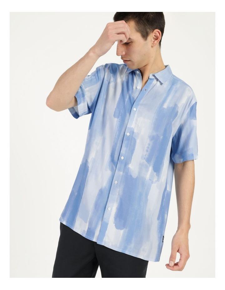 Ayr Abstract Print Short Sleeve Viscose Shirt image 3