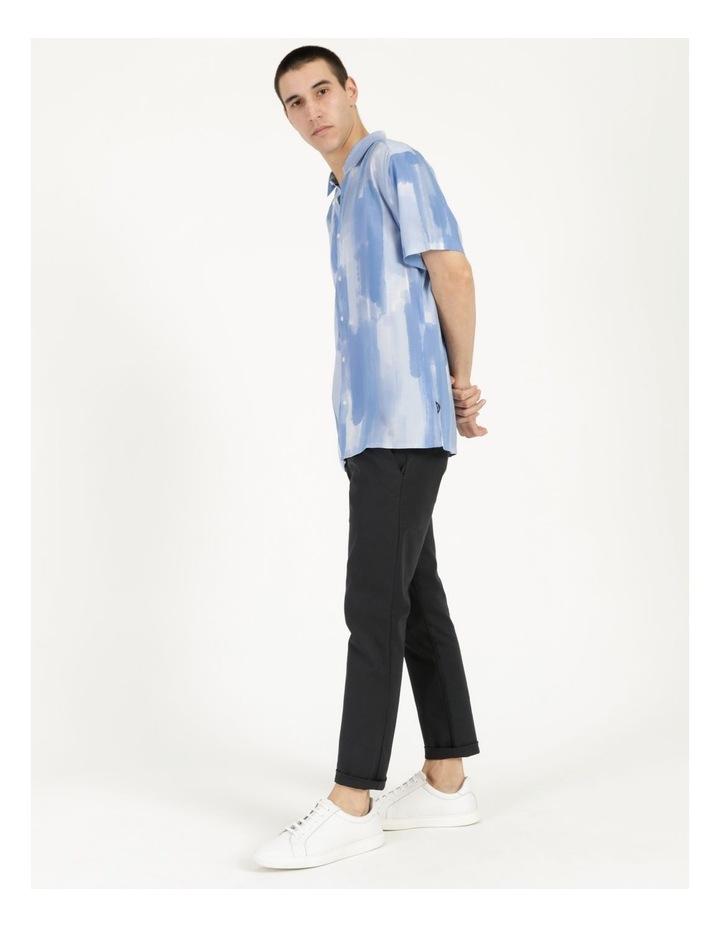 Ayr Abstract Print Short Sleeve Viscose Shirt image 4