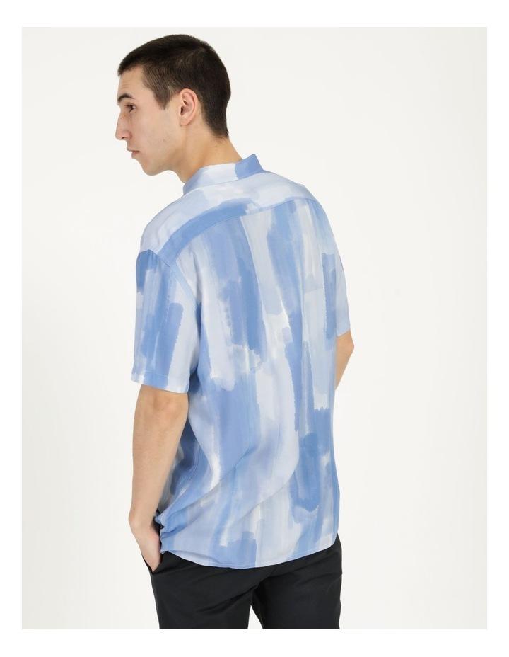 Ayr Abstract Print Short Sleeve Viscose Shirt image 5