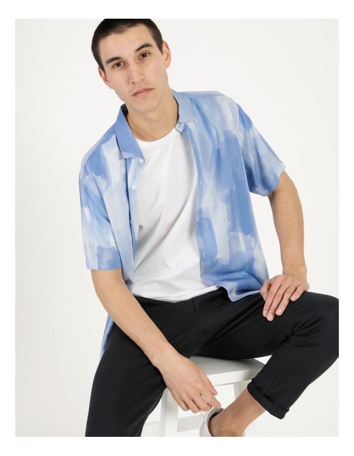 Ayr Abstract Print Short Sleeve Viscose Shirt image 6