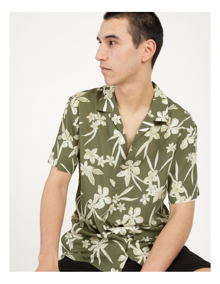 Freemantle Floral Print Short Sleeve Viscose Shirt image 1