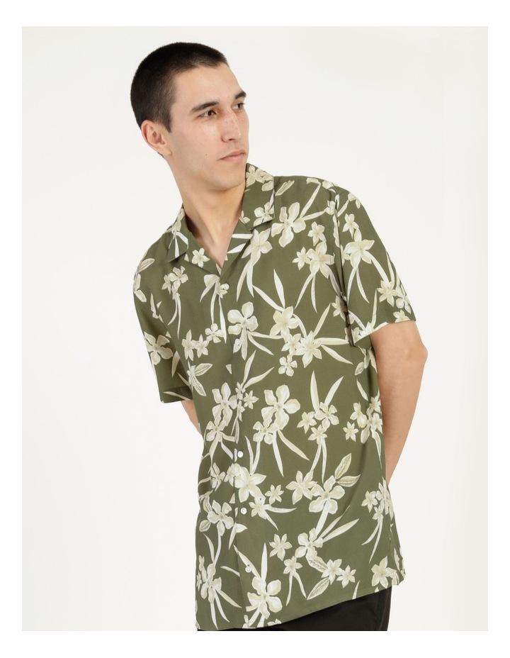 Freemantle Floral Print Short Sleeve Viscose Shirt image 2