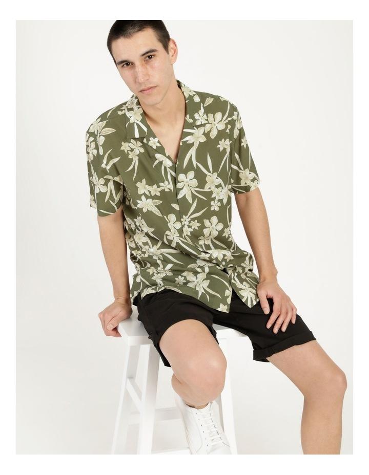 Freemantle Floral Print Short Sleeve Viscose Shirt image 3