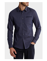 Blaq - Savoy Micro Dot Relaxed Long Sleeve Shirt
