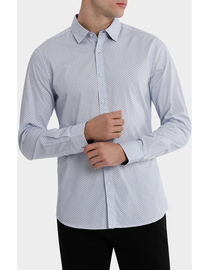 Sardinia Dimond Spot Print Long Sleeve Slim Shirt image 1