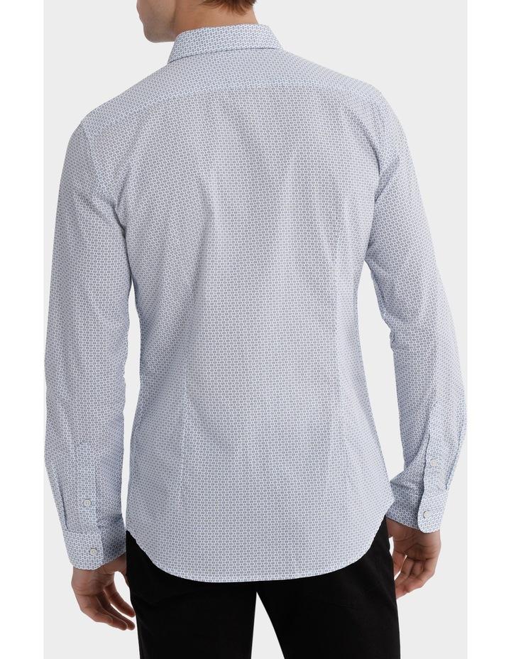 Sardinia Dimond Spot Print Long Sleeve Slim Shirt image 3