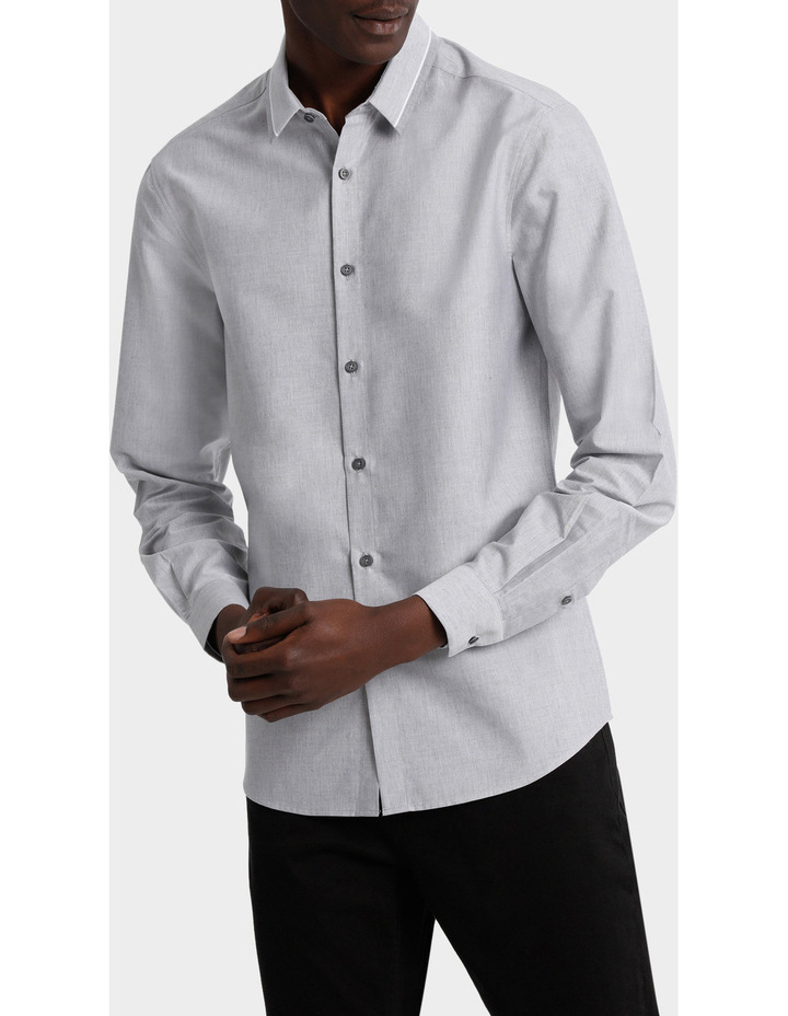 Iceland Striped Detailed Collar Long Sleeve Slim Shirt image 1
