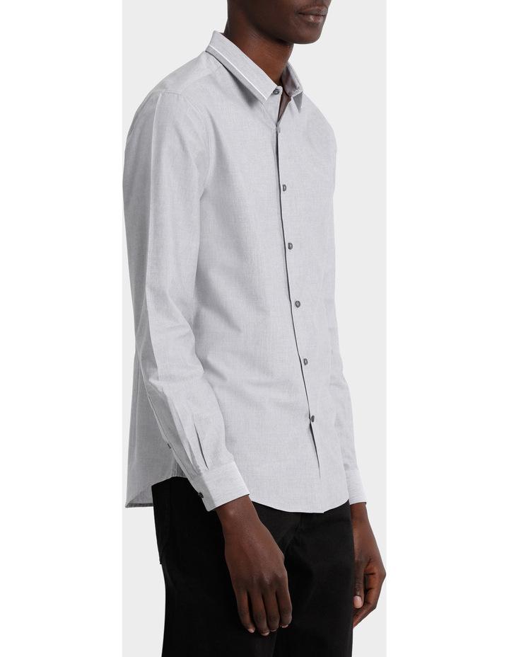 Iceland Striped Detailed Collar Long Sleeve Slim Shirt image 2