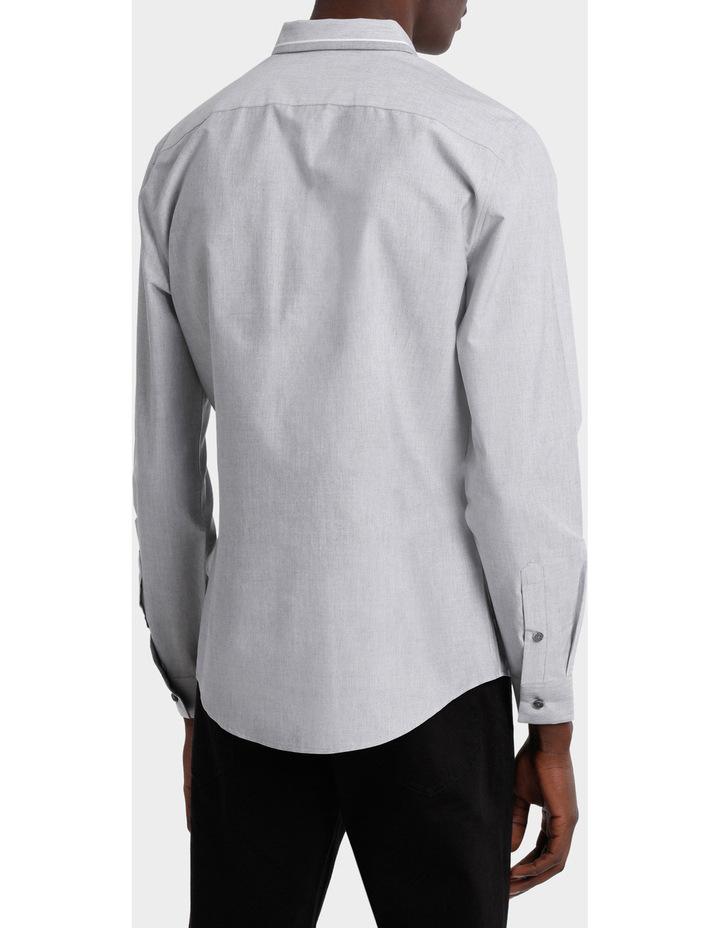 Iceland Striped Detailed Collar Long Sleeve Slim Shirt image 3
