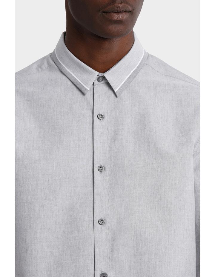 Iceland Striped Detailed Collar Long Sleeve Slim Shirt image 4