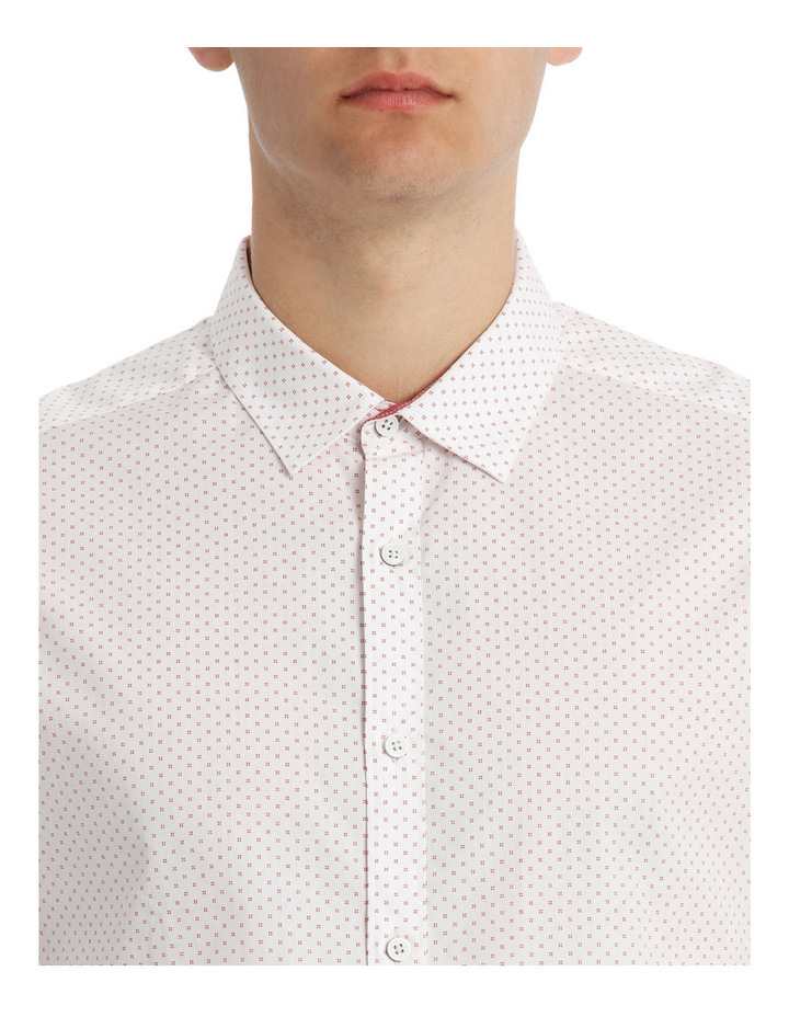 Capri cross print slim long sleeve shirt image 4