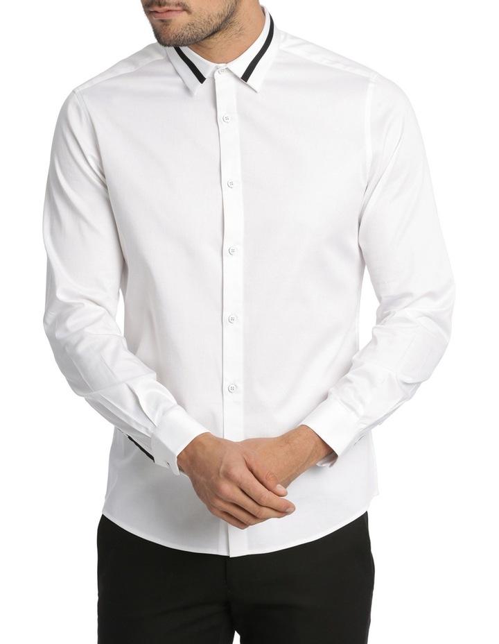Rhaegar Detailed Collar Long Sleeve Slim Shirt image 1