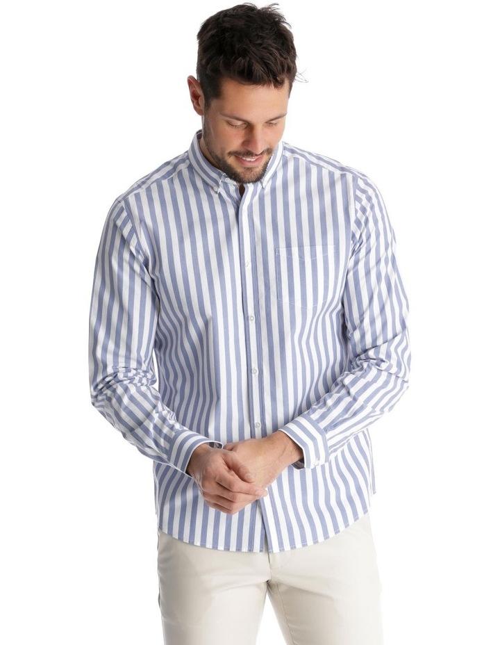 Upolu Stripe Long Sleeve Relaxed Shirt image 1