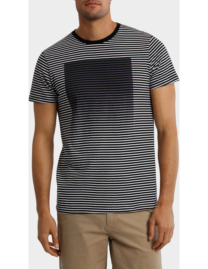 France Stripe Placement print tee image 1