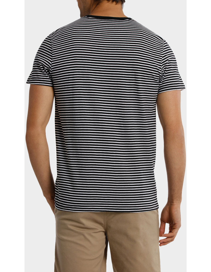 France Stripe Placement print tee image 2