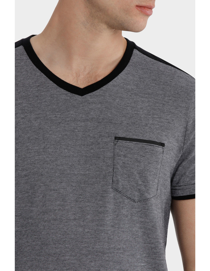 Mykonos V Neck Detailed Tee image 4