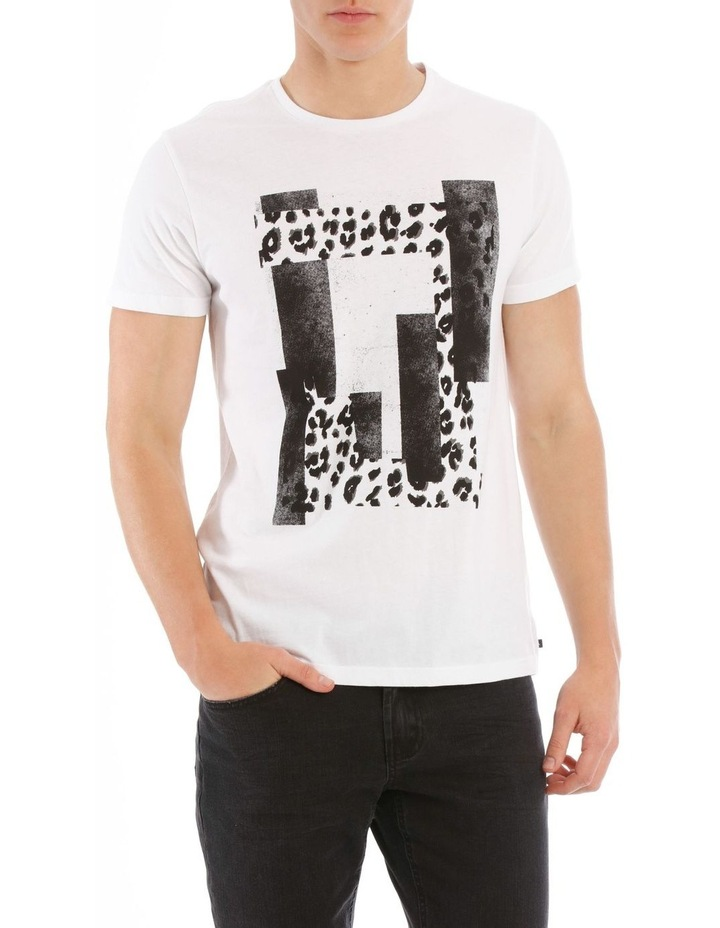 Leopard Placement Print Tee image 1