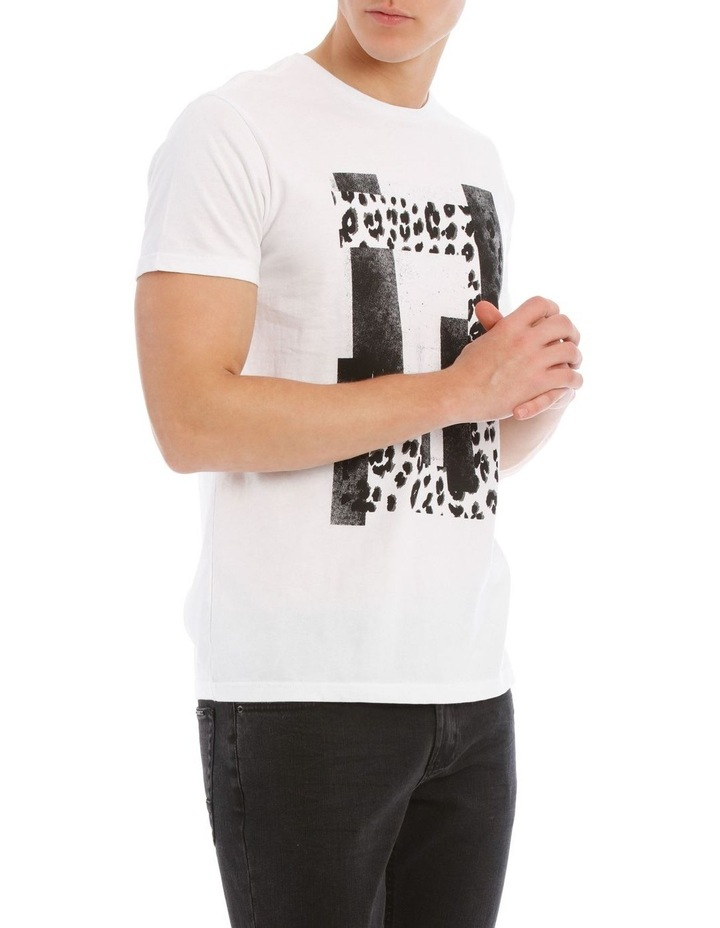 Leopard Placement Print Tee image 2