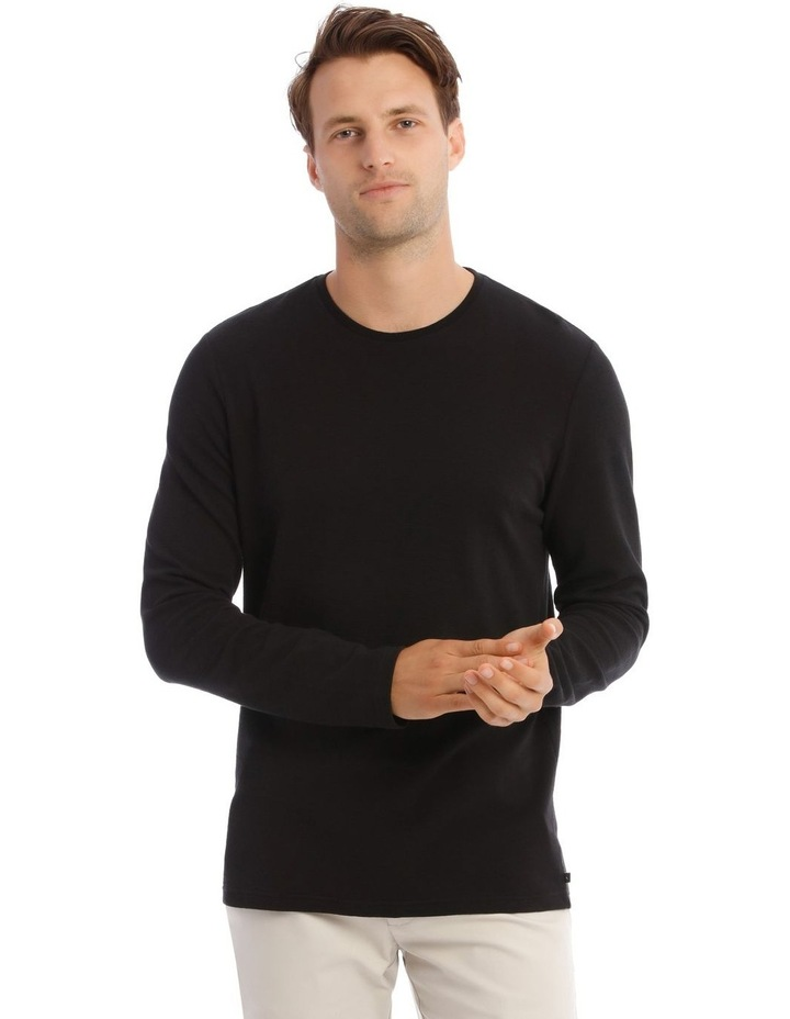 Argent Textured Long-Sleeve T-Shirt image 1