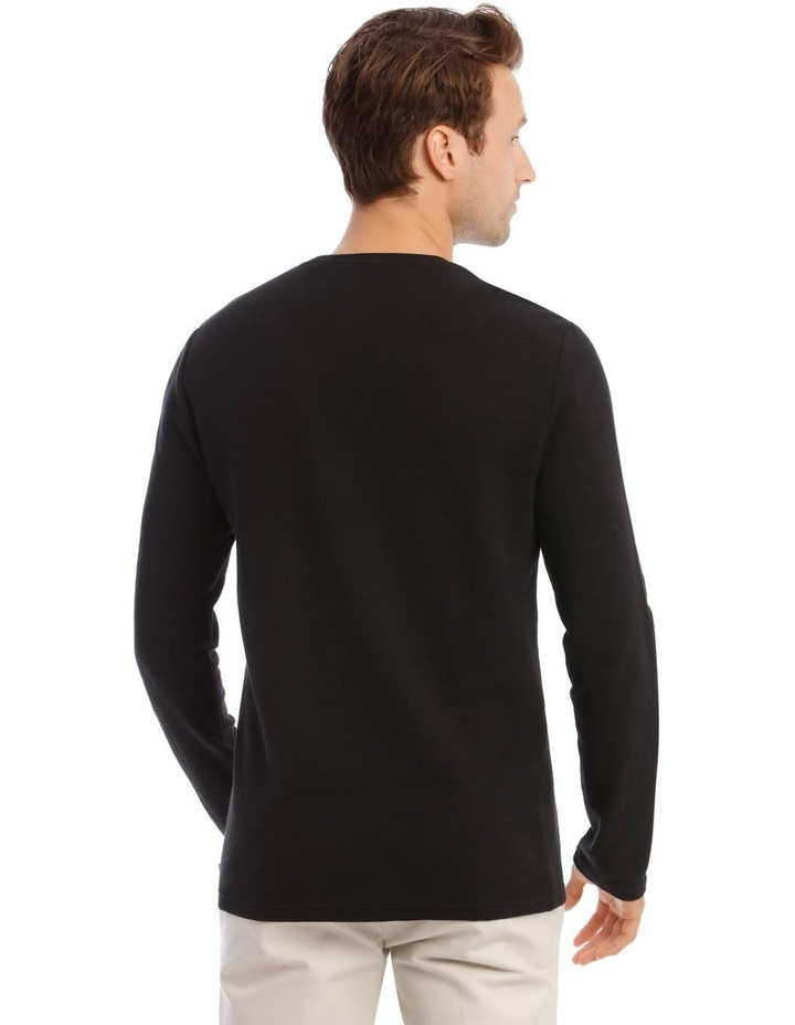 Argent Textured Long-Sleeve T-Shirt image 3