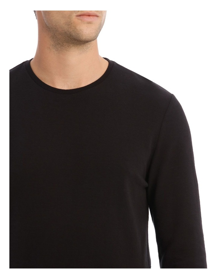 Argent Textured Long-Sleeve T-Shirt image 4