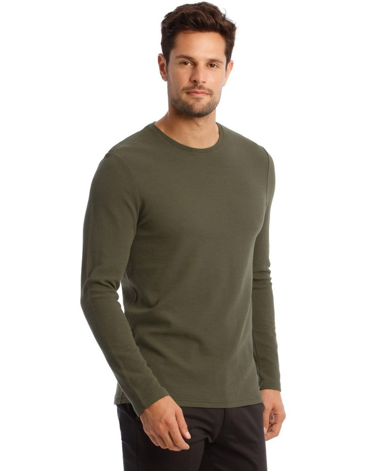 Argent Textured Long-Sleeve T-Shirt image 2