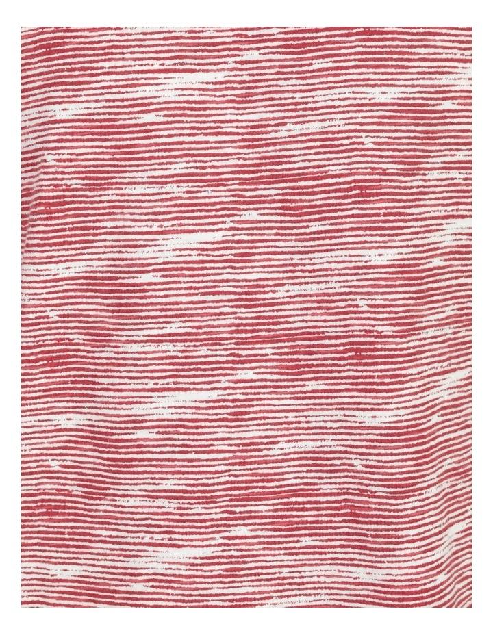 Kempsey Broken Stripe Short Sleeve Tee Coral image 7