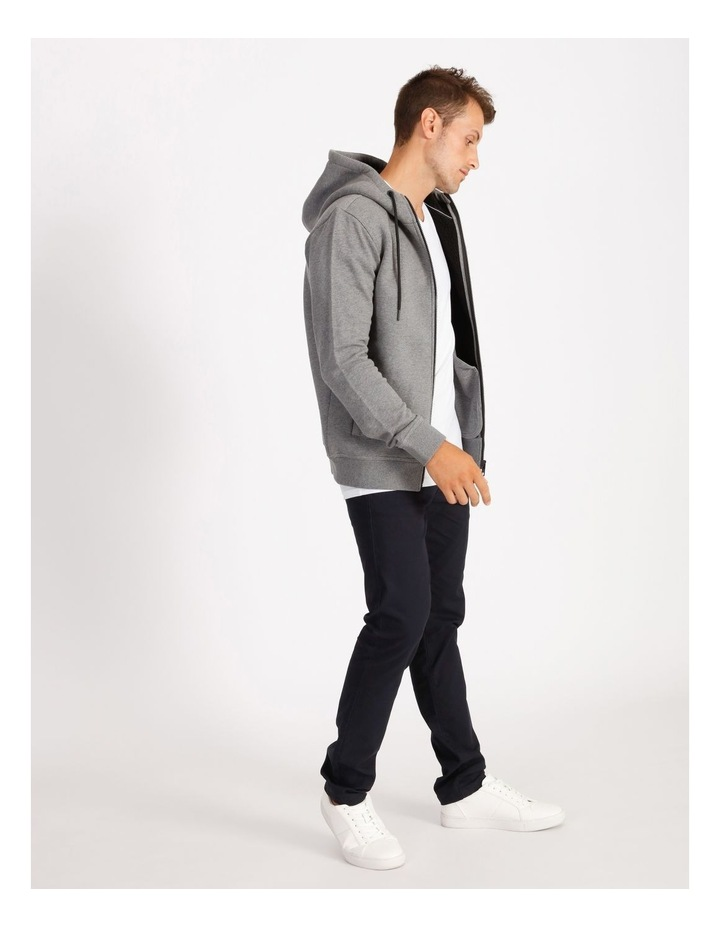 Jasper Hooded Sherpa Sweat Top - Grey image 2
