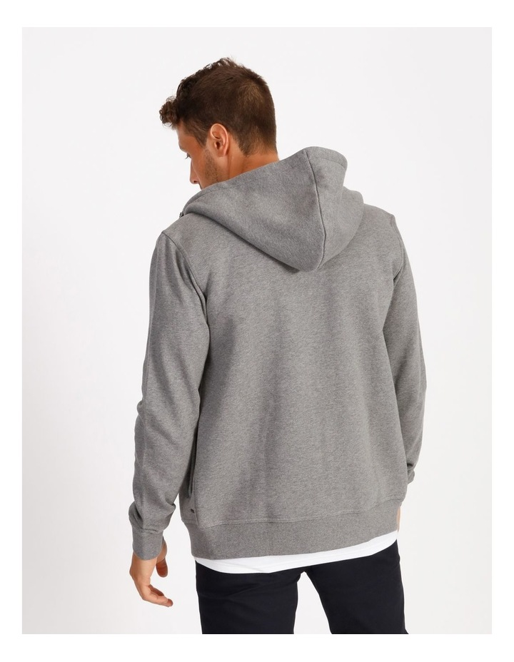 Jasper Hooded Sherpa Sweat Top - Grey image 3