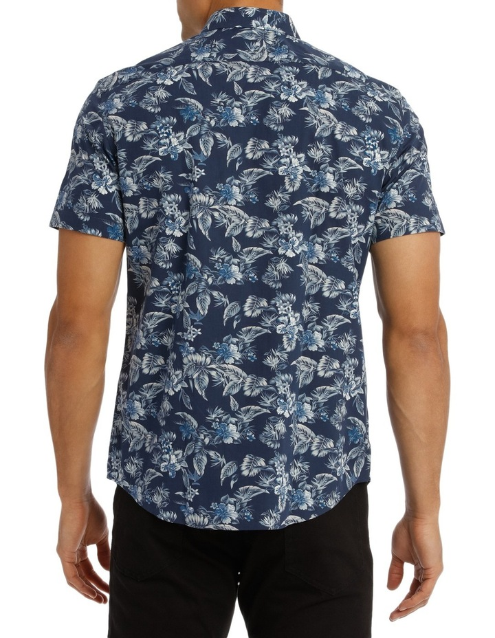 Tofino Floral Printed Short Sleeve Slim Shirt image 3