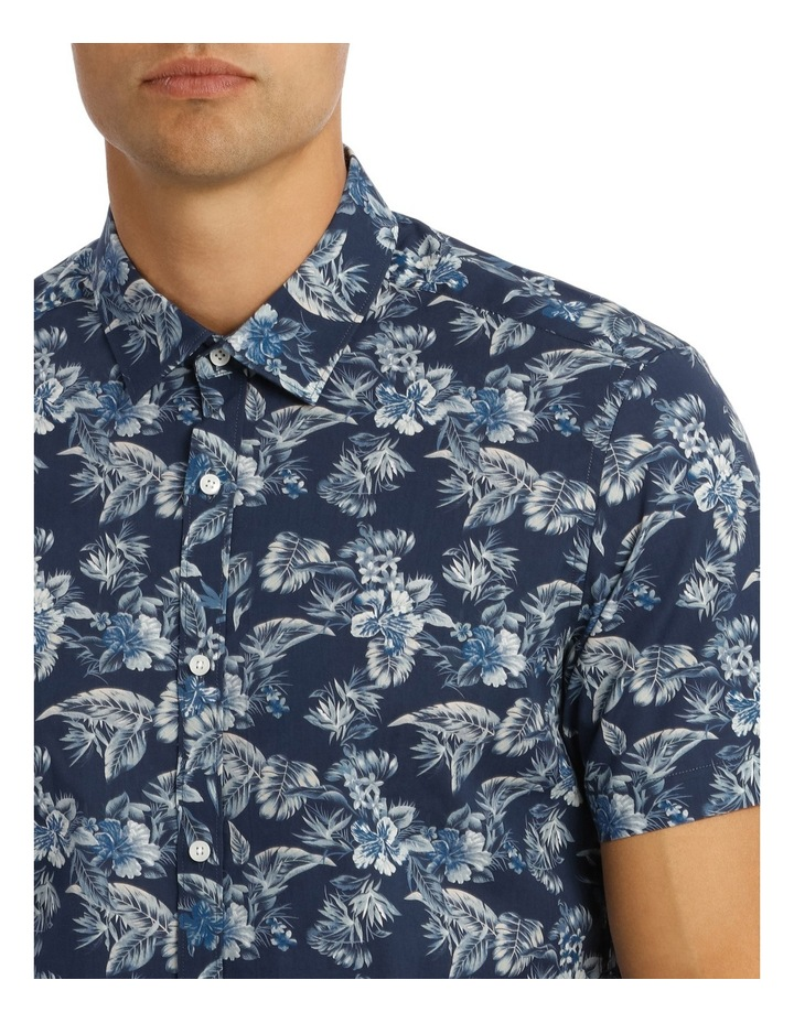 Tofino Floral Printed Short Sleeve Slim Shirt image 4