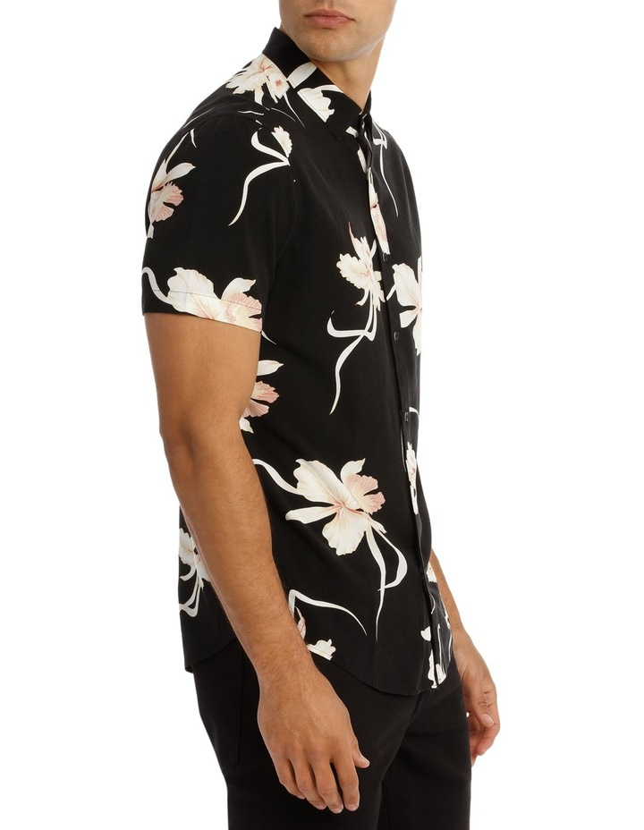Champagne Floral Printed Short Sleeve Relaxed Shirt image 2