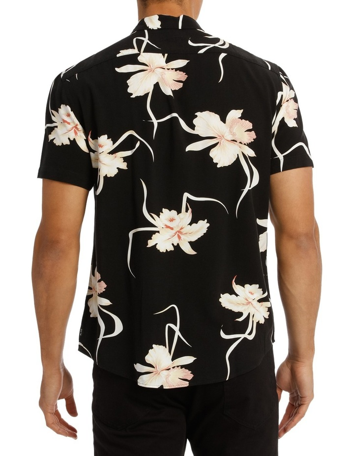 Champagne Floral Printed Short Sleeve Relaxed Shirt image 3