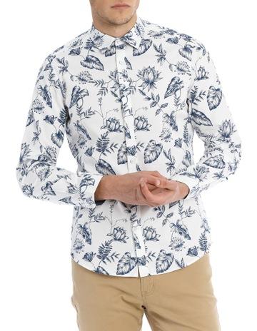 e9ecb076d92 BlaqSerpentine Printed Floral Long Sleeve Slim Shirt. Blaq Serpentine Printed  Floral Long Sleeve Slim Shirt