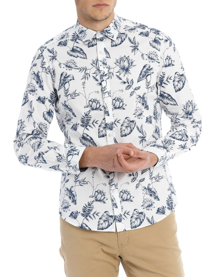 Serpentine Printed Floral Long Sleeve Slim Shirt image 1