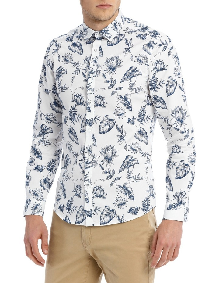 Serpentine Printed Floral Long Sleeve Slim Shirt image 2