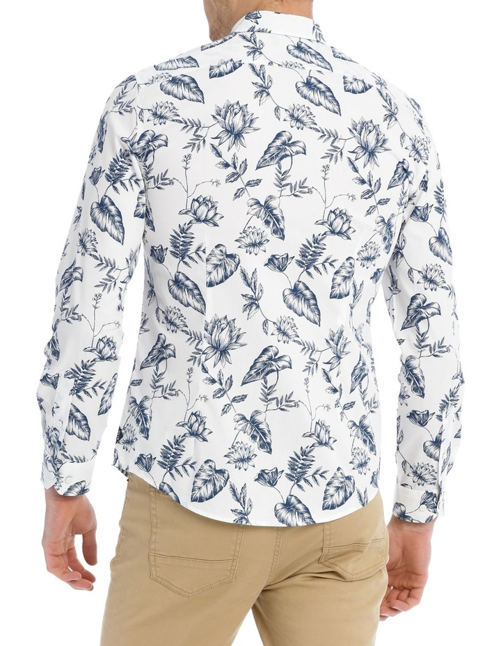 Serpentine Printed Floral Long Sleeve Slim Shirt image 3