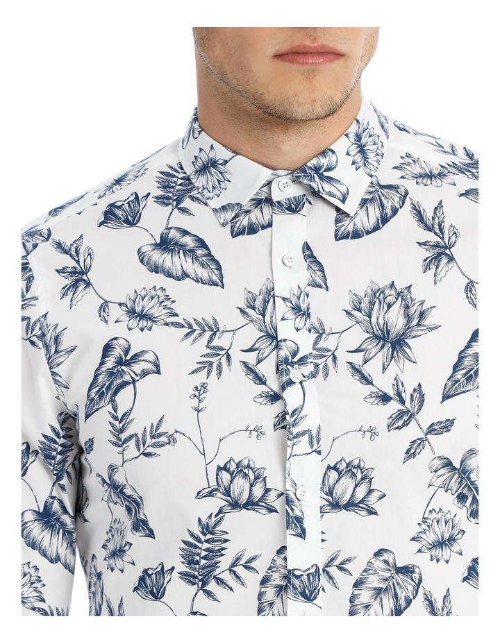 Serpentine Printed Floral Long Sleeve Slim Shirt image 4