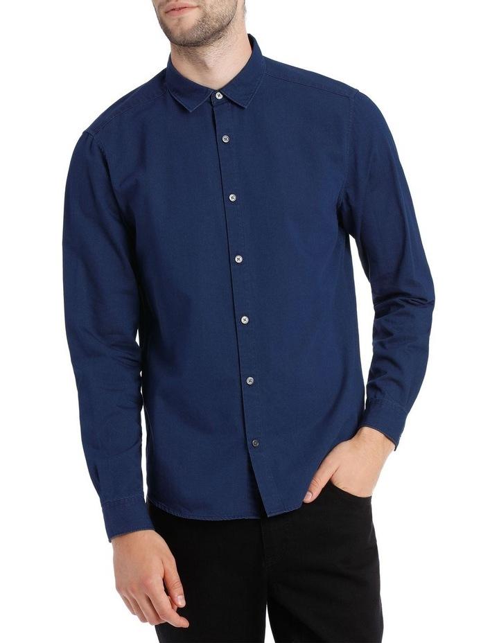 Finland Indigo Long Sleeve Relaxed Shirt image 1