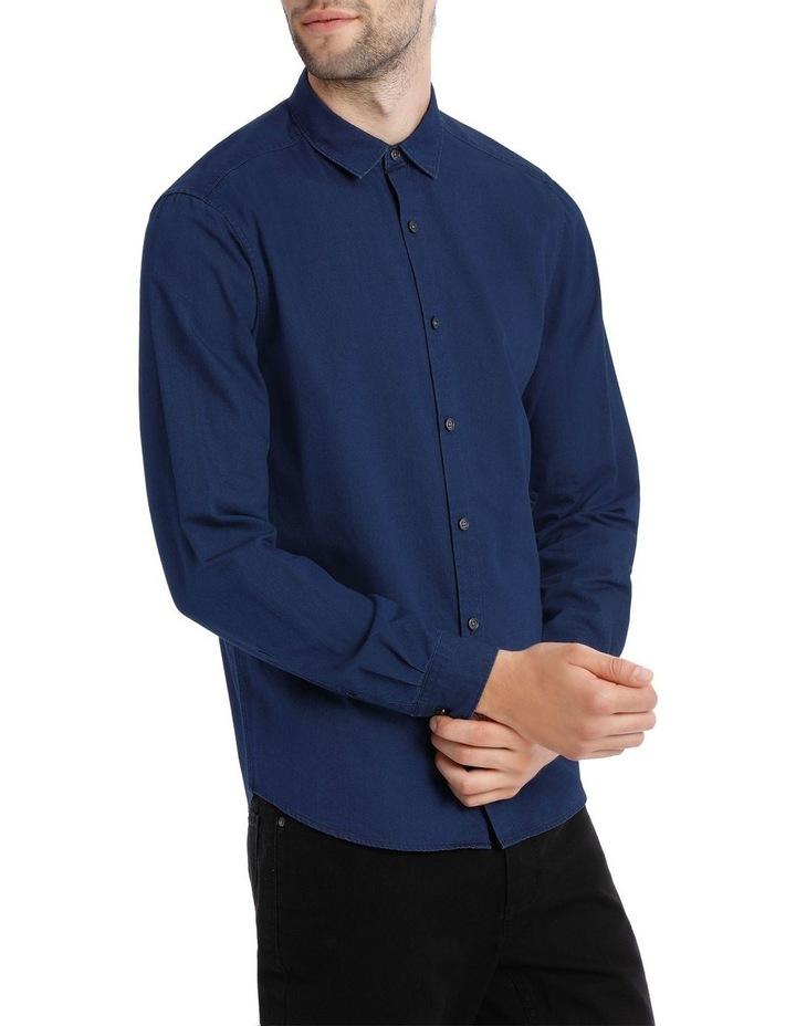 Finland Indigo Long Sleeve Relaxed Shirt image 2