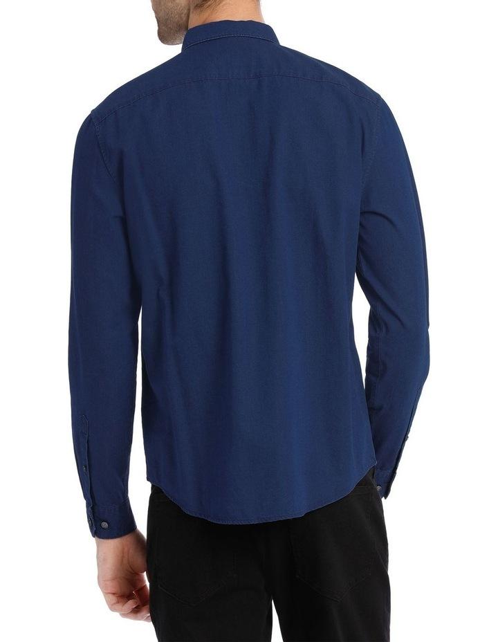 Finland Indigo Long Sleeve Relaxed Shirt image 3