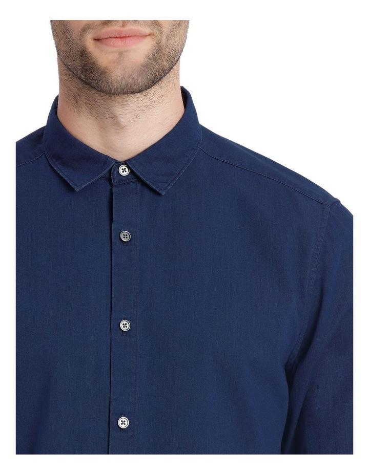 Finland Indigo Long Sleeve Relaxed Shirt image 4
