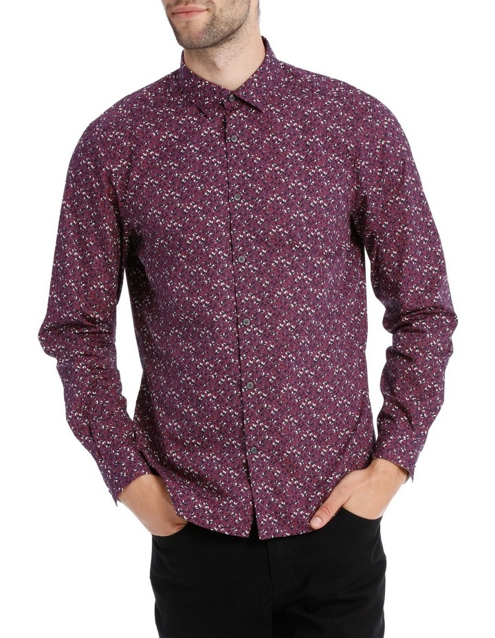 Lyric Micro Printed Long Sleeve Relaxed Shirt image 1